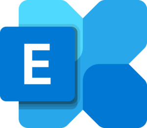 Letra E de Exchange Online